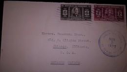 O) 1937 HONDURAS, TOMAS ESTRADA DE PALMA  SC 331 6c, PRESID. CARIAS SC 329 2c, TO USA - Honduras