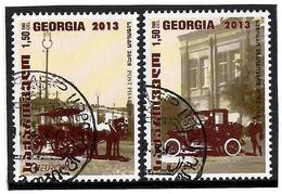 Georgia.2014 EUROPA 2013. Post Cars. 2v X1.50 Michel # 657-58  (oo) - Georgien