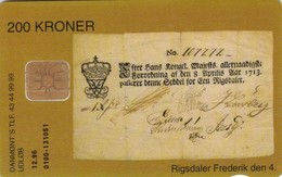 Denmark, DD 062, First Danish Note, Only 2.430 Issued, 2 Scans - Denmark