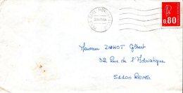 1 - Cachet 75 PARIS GARE MONTPARNASSE 1975 - Marcofilie (Brieven)