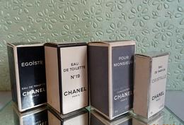 Lot  4 Miniatures  CHANEL Avec Leurs Boites  (M076-3) - Miniatures Femmes (avec Boite)