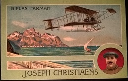 BIPLANO FARMAN PILOTA CHRISTIAENS - Aviatori
