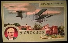 BIPLANO FARMAN PILOTA CROCHOM - Aviatori