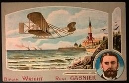 BIPLANO WRIGHT PILOTA GASNIER - Aviatori