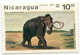 Lote 1617-23, Nicaragua, 1987, Sello, Stamp, 7 V, Animales Prehistoricos. Prehistoric Creatures. Fauna - Nicaragua
