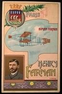 BIPLANO FARMAN PILOTA HENRY FARMAN - Aviatori