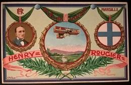 BIPLANO VOISIN PILOTA HENRY ROUGIER - Aviatori