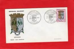 Enveloppe 1er Jour * * ANTALAHA * * Repoblika Malagasy - 1965 - Madagascar (1960-...)