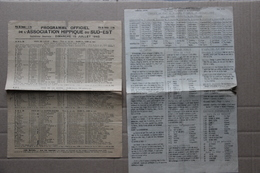 Programme Officiel Association Hippique Du Sud-Est Et Supplément, Marseille (Bouches-du-Rhône), 15 Juillet 1945 - Programmes