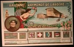 BIPLANO VOISIN PILOTA BARONE DE LAROCHE - Aviatori