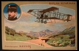 BIPLANO FARMAN PILOTA LUOGOTENENTE SAVOIA - Aviatori