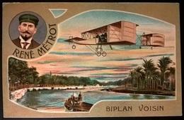 BIPLANO VOISIN PILOTA METRON - Aviatori
