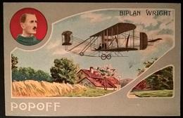 BIPLANO WRIGHT PILOTA POPOFF - Aviatori