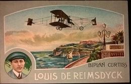 BIPLANO CURTISS PILOTA REIMSDYCK - Aviatori