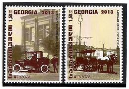 Georgia.2014 EUROPA 2013. Post Cars. 2v X1.50 Michel # 657-58 - Georgien
