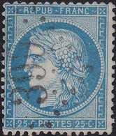 N°60 Oblitéré Gros Chiffres 399 De Beaurepaire De L'Isère (37), TB. - 1871-1875 Ceres