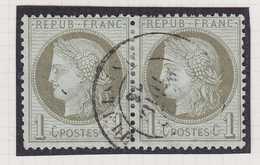 N°50 Belle Paire Avec Une Oblitération Fine, TB. - 1871-1875 Ceres