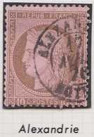 N°54 Cachet à Date D'Alexandrie Du 17 Avril 1876, 1er Choix. - 1871-1875 Cérès