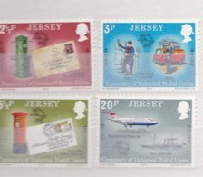 Jersey 1974 UPU Centenary - Four Stamps MNH/**  (M4-3) - Jersey