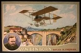 BIPLANO FARMAN PILOTA VAN DEN BORN - Aviatori