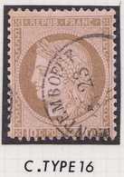 N°54 Cachet à Date Type 16 De Montemboeuf (15), Pas Courant, TB. - 1871-1875 Ceres