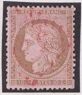 N°58 Très Rare Oblitération Gros Chiffres Rouges 532, TB. - 1871-1875 Cérès