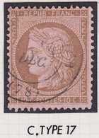 N°58 Oblitéré Cachet à Date Type 17, TB. - 1871-1875 Ceres