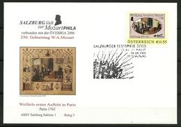AUTRICHE OMA Festival De Salzbourg 2005 24.07.2005 5010 Salzbourg Superbe - Musique