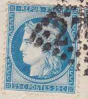 N°60B De La Planche 4 Sur Lettre D'Orléans Du 19 Décembre 1873, Très Rare Timbre Issue De La Planche 4, TB. - 1871-1875 Ceres