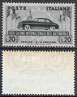 Italia Italy 1951 Salone Auto Torino Sa N.655 Nuovo Integro MNH ** - 1946-60: Nuovi
