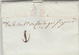 Déb. De Coulanges Sur Yonne Sur Lettre De Paris. (TTB) - Marcophilie (Lettres)