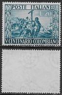 Italia Italy 1951 Colombo Sa N.660 Nuovo Integro MNH ** - 1946-60: Nuovi