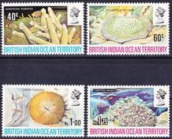 BIOT British Indian Ocean Territory 1972 Corals Complete Set Mi 44-47 MNH **, I Sell My Collection! - Britisches Territorium Im Indischen Ozean