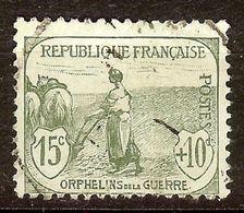 SUPERBE ORPHELINS De GUERRE N°150 Oblitéré CàD Cote 35 Euro PAS D'AMINCI - France