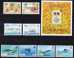 BIOT British Indian Ocean Territory 1995 Compl. Year, All 2 Sets + MS, Mi 170-78 + Bl 5 MNH **, I Sell My Collection! - Britisches Territorium Im Indischen Ozean