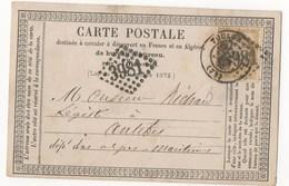 CARTE POSTALE DE 1975 DE TOULON POUR ANTIBES - 1871-1875 Ceres