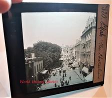 Photo Sur Plaque De Verre Début XXe - SAINT MALO - La Place Chateaubriant Animée - Bretagne Ille Et Vilaine Servan - Glass Slides