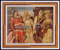 Cook Island 1978 M 60 + 5 C. Christ, Painting, Michelangelo Block Easter MHN** W840A - Cook