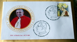 VATICAN 2018, 40TH ANNIVERSRY DEATH POPE G.PAOLO I°   FDC - FDC