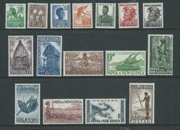 Papua New Guinea 1952 Definitives Set 16 MNH - Papua New Guinea