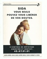 CPM SIDA Info Mairie De Paris - 5 Centres De Dépistage Cart' Com Paris - Santé