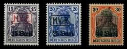 BES 1WK D-MV RUMÄNIEN Nr 1-3 Ungebraucht X741C8A - Besetzungen 1914-18
