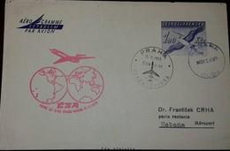 L) 1969 CZECH REPUBLIC, BIRD, BLUE, 1.20KCS, FIRST FLIGHT PRAGUE - HABANA, AIRMAIL - Czechoslovakia