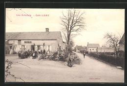 CPA Les Arbelats, Cafe Lamy - France
