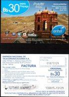 Bolivia 2017-05-08-18 Prepago ENTEL. Arquitectura. Monumento Y Cerro Rico. Potosi. Plastico. Imp. Targuet S.R.L. - Bolivië