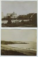 2 Photos. Avant Saint-Lunaire Et Après Cancale. Normandie. Plage. - Photos