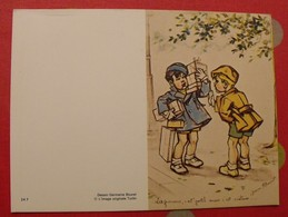 Germaine Bouret. Illustratrice. Dessin Calendrier De Poche 1986 - Calendriers