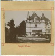 Lot De 4 Photos. Château D'Azay-le-Rideau. Porte De L'église De Candes. - Photos