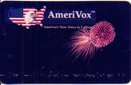 USA - Fireworks, Amerivox Prepaid Card - Stati Uniti