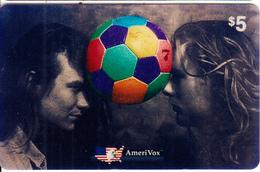 USA - Amici In Gran Bretagna, Amerivox Prepaid Card $5, Tirage 2000, 02/94, Used - Stati Uniti